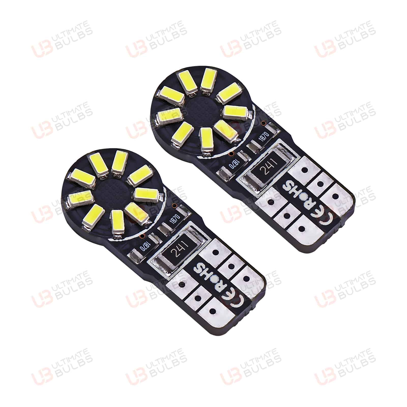 2x Opel Corsa D Bright Xenon White LED Number Plate Upgrade Light Bulbs