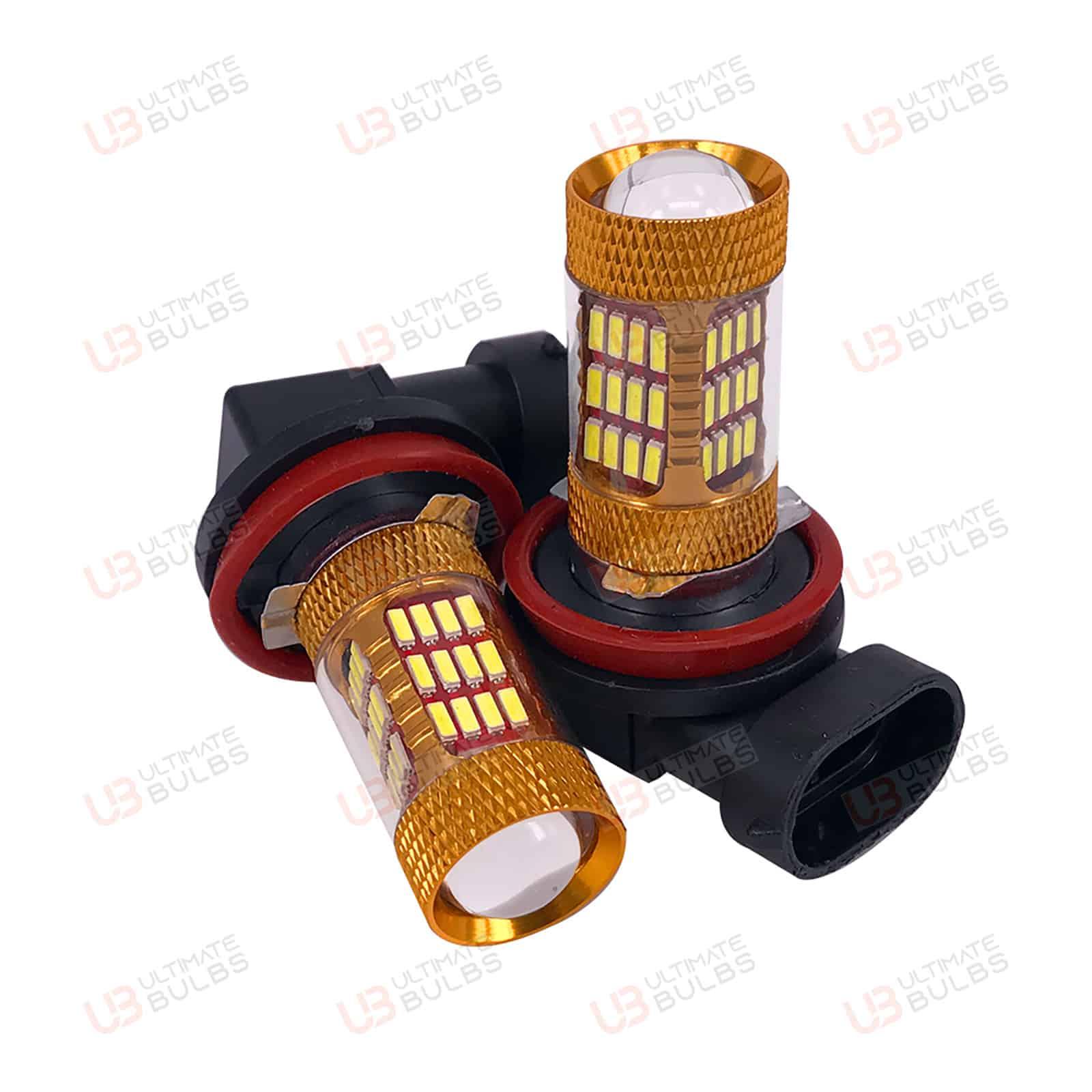 For  A4 B7 04-08 LED Fog Light H11 Error Free White Bulbs